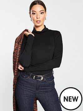 v-by-very-roll-neck-top-black