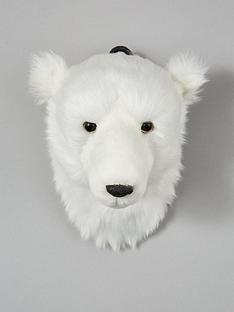 gisela-graham-polar-bear-head-wall-plaque