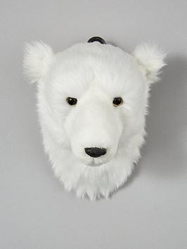 gisela-graham-polar-bear-head-wall-plaque