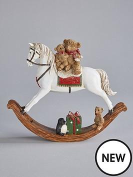 gisela-graham-gisela-graham-rocking-horse-ornament-christmas-decoration