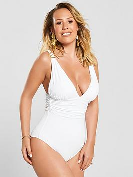 kate-wright-ruched-waist-high-leg-swimsuit