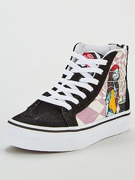 vans-childrens-sk8-hi-zip-nightmare-before-christmas-sally-high-tops-multi