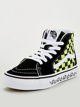 vans-sk8-hi-childrens-trainers-blackgreen