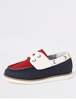 river-island-mini-mini-boys-velcro-boat-shoes-navy