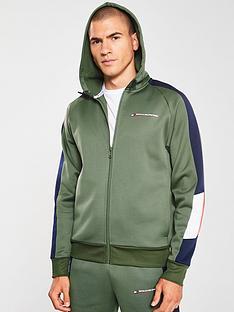 tommy-hilfiger-block-fleece-full-zip-hoodie-khaki