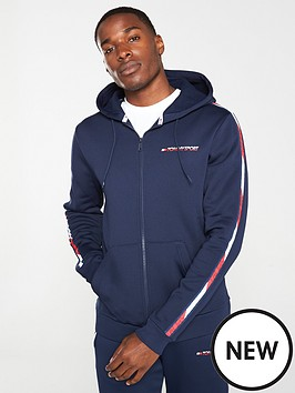 tommy-hilfiger-taped-full-zip-hoodie-navy
