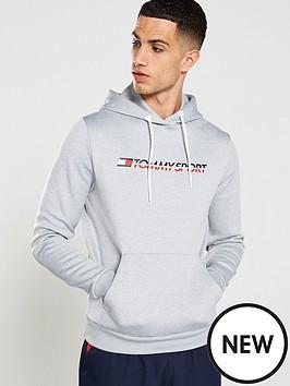 tommy-hilfiger-fleece-logo-overhead-hoodie-ndash-grey-heather