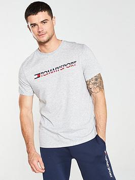 tommy-hilfiger-chest-logo-t-shirt-grey-heather
