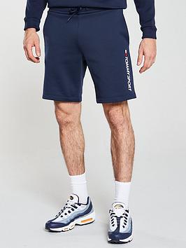 tommy-hilfiger-logo-fleece-shorts-navy