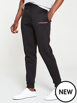 tommy-hilfiger-fleece-small-logo-joggers-black