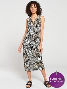 v-by-very-circle-trim-detail-jersey-midi-dress-leaf-print
