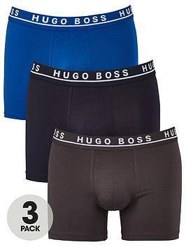 Boss   Bodywear 3 Pack Boxer Briefs - Open Blue