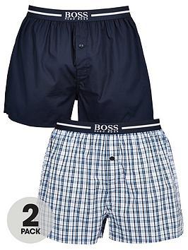 Boss   Bodywear 2 Pack Woven Boxer - Navy