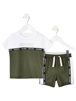river-island-mini-mini-boys-mesh-t-shirt-and-short-outfit-khaki