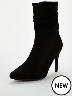 wallis-wallis-rouched-leg-pointed-ankle-boot-black