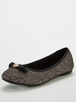 wallis-floral-trim-ballerina-pumps-black