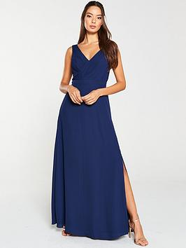 V by Very V By Very Pleated Bust Maxi Dress - Navy Picture