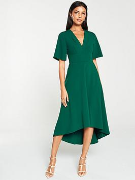 v-by-very-kimono-sleeve-midi-dressnbsp--green
