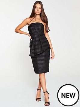 v-by-very-lurex-stripe-origami-dress-black