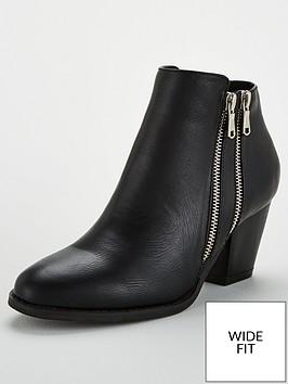 wallis-wide-fit-double-side-zip-boot-black