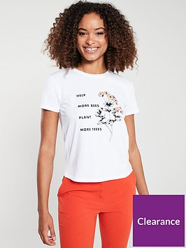 v-by-very-help-more-bees-slogan-t-shirt-white