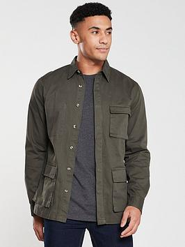 V by Very V By Very Overshirt - Khaki Picture