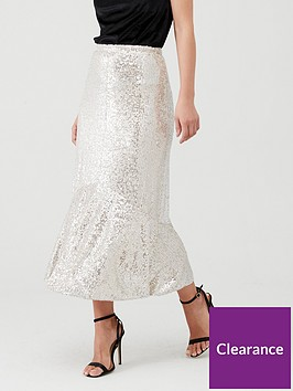 whistles-sequin-skirt-silver