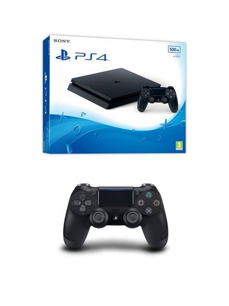 playstation-4-ps4nbspwith-additional-dualshockreg-controller-andnbspoptional-extras-500gb-console