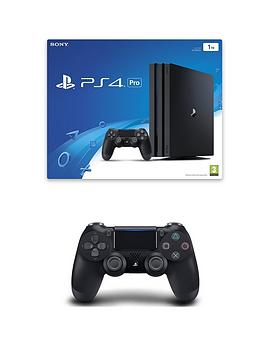 playstation-4-ps4nbsppronbspwith-additionalnbspdualshockreg-controller-1tb-console