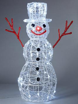 Very Indoor/Outdoor Acrylic Snowman With 80 Twinkling Led Lights Picture