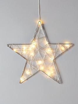 Very Wire Star With 20 Led Christmas Lights Picture