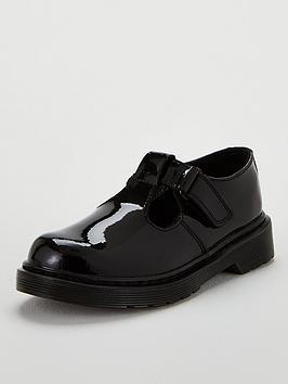 Dr Martens Dr Martens Girls Ailis T-Bar School Shoes - Black Picture