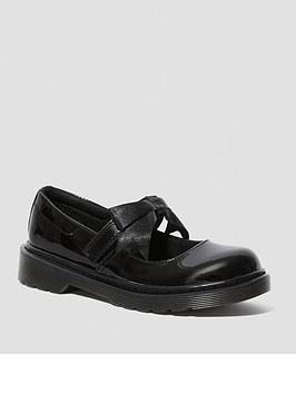 Dr Martens Dr Martens Leather Maccy Ii Bow Mary Jane Shoes - Black Picture