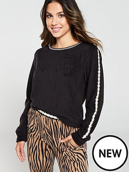 dkny-logo-and-zebra-jogger-pj-set