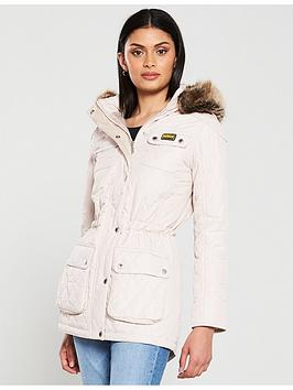 Barbour International   Enduro Quilted Jacket - Oyster