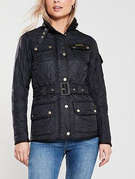 Barbour International   Polarquilt Button Detail Jacket - Black