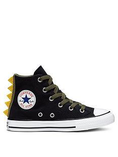 converse-chuck-taylor-all-star-dino-spikes-hi-trainers-blackkhaki