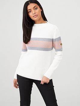 barbour-international-strike-knitted-jumper-off-white