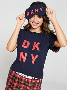 dkny-t-shirt-and-shorts-pyjamas-withnbspeye-mask-boxed-set-multi