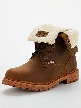 Barbour Barbour Hamsterly Roll Top Leather Boot - Brown Picture