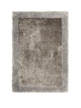 Very Shimmer Shaggy Border Rug Picture