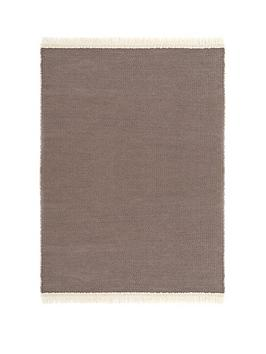 Very Reversible Plain Rug With Fringe Picture