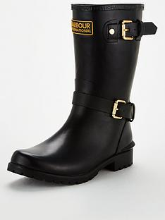 barbour-monza-welly-with-buckles-black