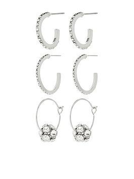 accessorize-3-x-crystal-hoop-earrings-pack-silver