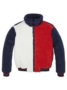 tommy-hilfiger-girls-teddy-bomber-jacket-navy