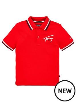 tommy-hilfiger-boys-signature-logo-short-sleeve-polo-shirt-red