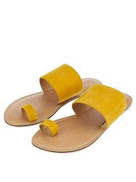 accessorize-charlotte-chappal-toe-suede-sandals-yellow