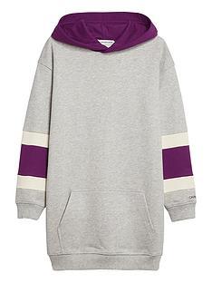 calvin-klein-jeans-girls-varsity-hooded-dress-grey-marl