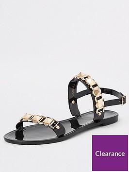 river-island-river-island-studded-jelly-sandal-black