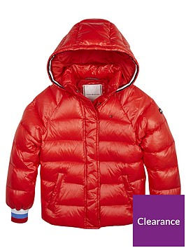 tommy-hilfiger-girls-high-shine-padded-coat-red